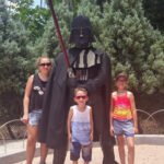 Kids with Lego Darth Vader